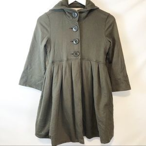 Free People Olive Green Baby doll cloak jacket XS